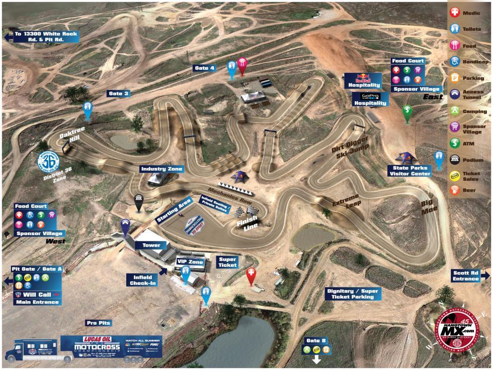 Hangtown Motocross Track Map