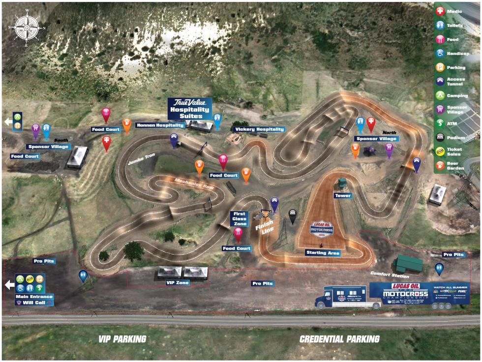 Thunder Valley Motocross Park Track Map