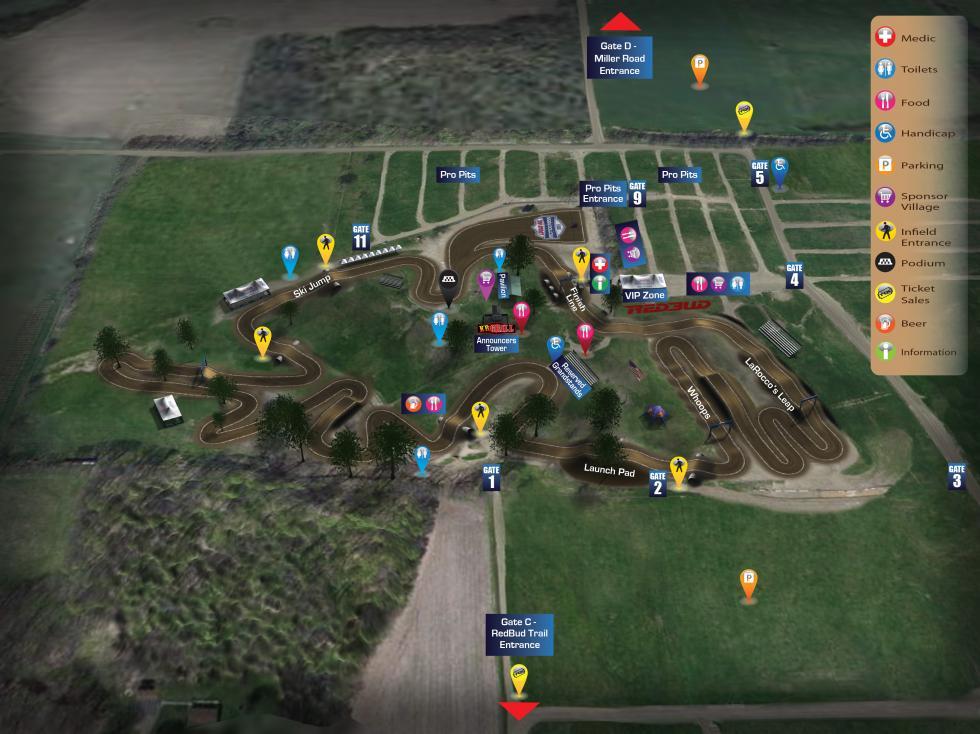 RedBud MX Track Map