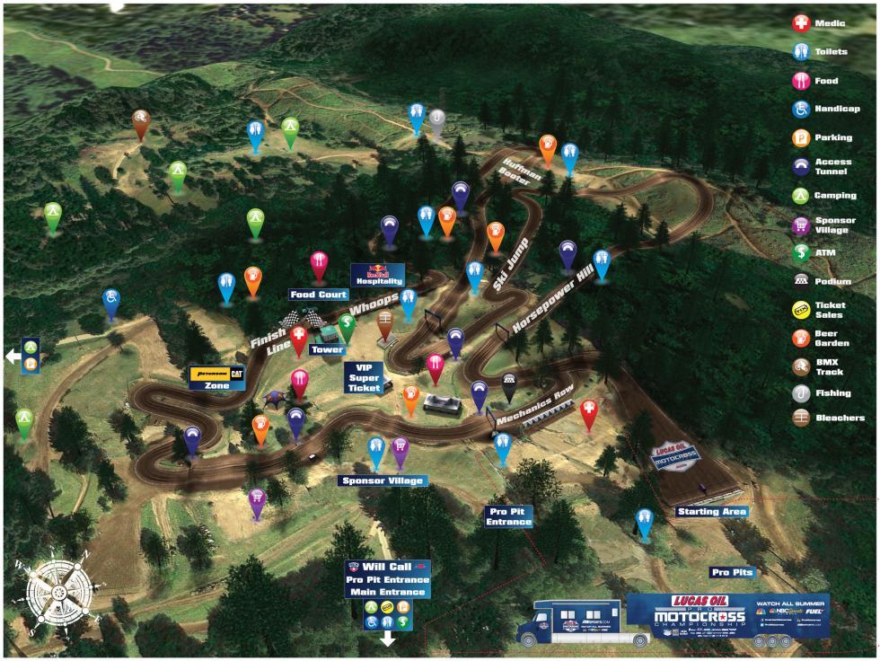 Washougal MX Park Track Map