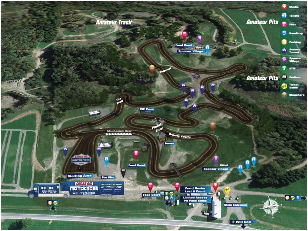 Unadilla MX Track Map