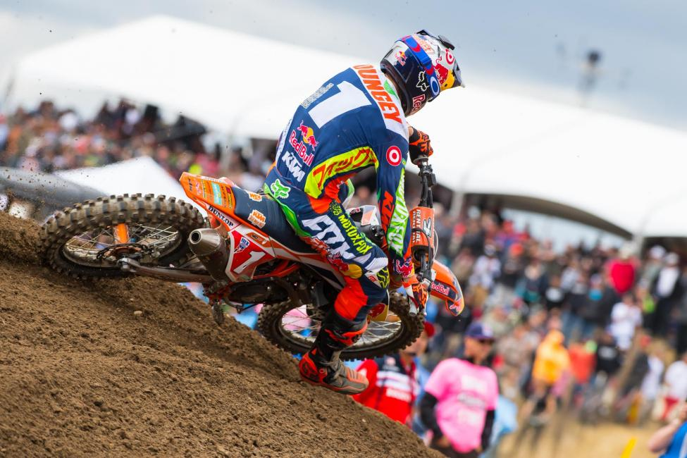 Dungey secured his sixth straight runner-up finish at Hangtown.Photo: Simon Cudby