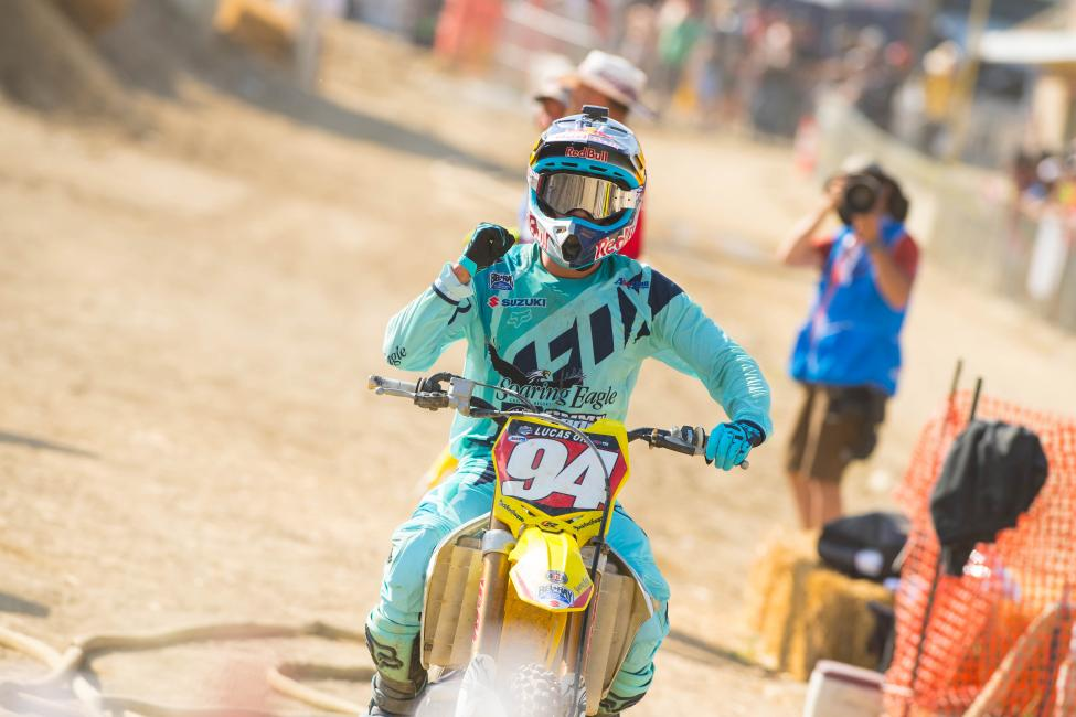 Despite some misfortune, Roczen maintains control of the red number plate as points leader.Photo: Simon Cudby