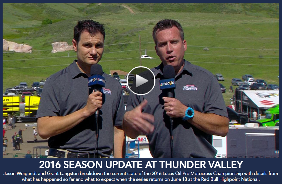 NBC Sports broadcast tandem of Jason Weigandt and Grant Langston share their thoughts on the Lucas Oil Pro Motocross Championship after three rounds.