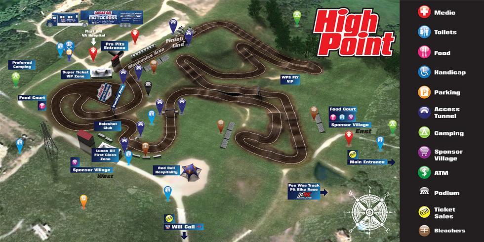 High Point Raceway  Track Map
