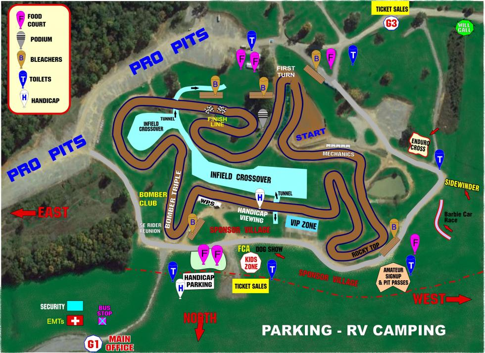 Muddy Creek Raceway Track Map