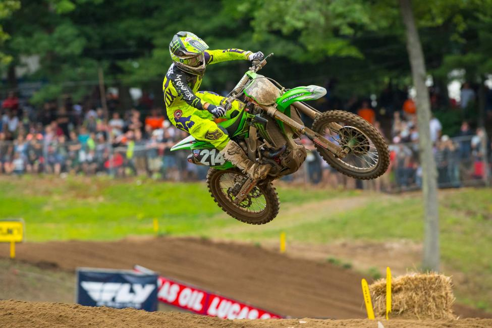 Rookie Forkner landed on the overall podium for the first time in third.Photo: Simon Cudby