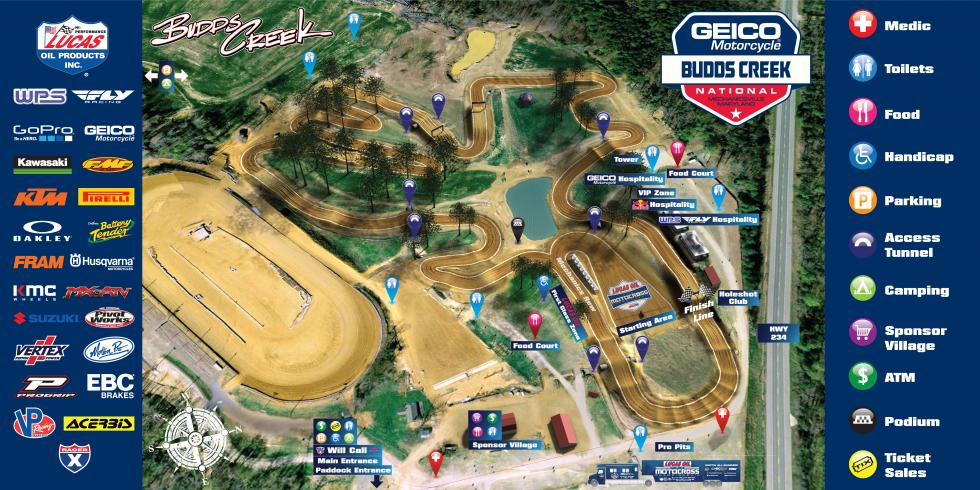 Budds Creek Raceway Track Map