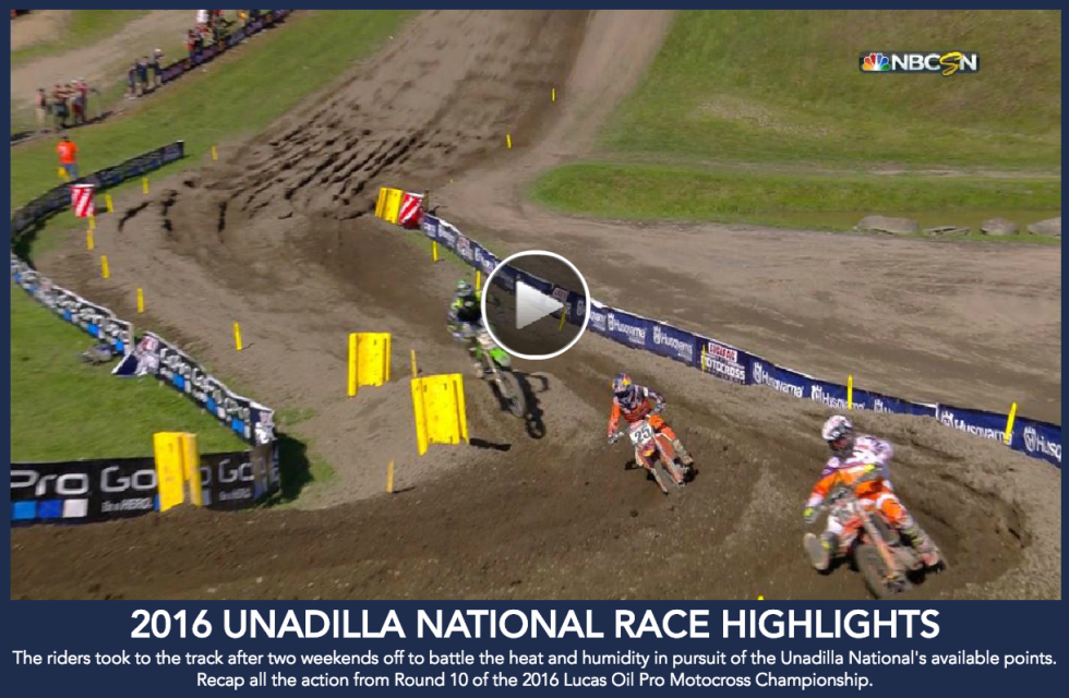 Race Highlights from the Unadilla National