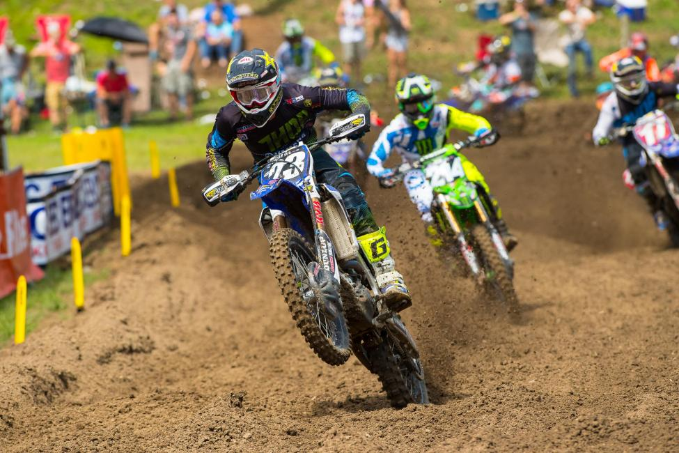 Plessinger relied on a win in the second moto to finish in the runner-up spot.Photo: Simon Cudby