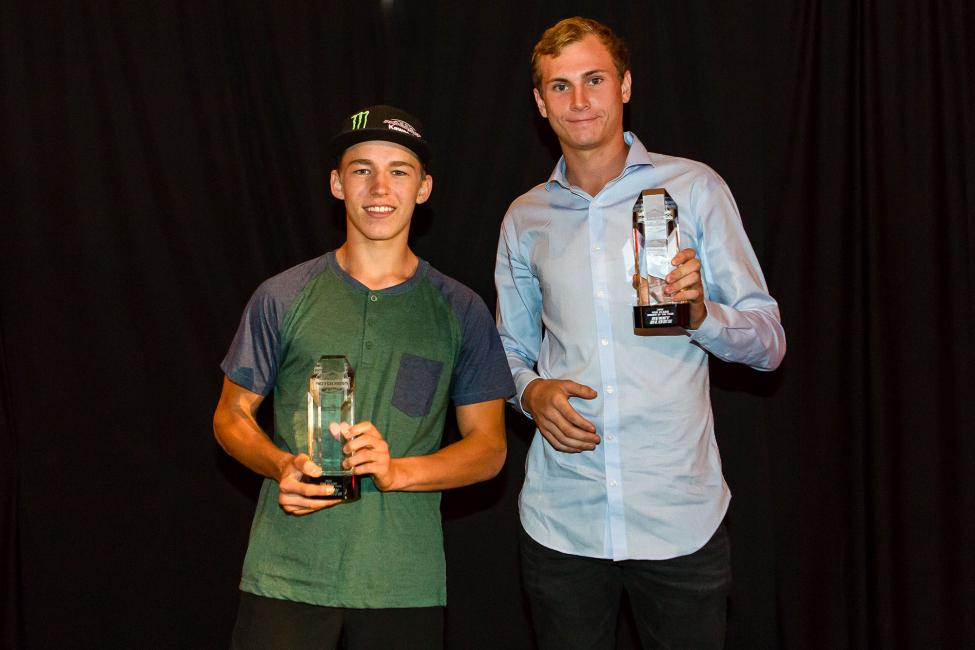 Rookie of the Year honors awarded to two Missouri natives. 250 Rookie Austin Forkner (left) and 450 Rookie Benny Bloss (right). Photo: Rob Koy