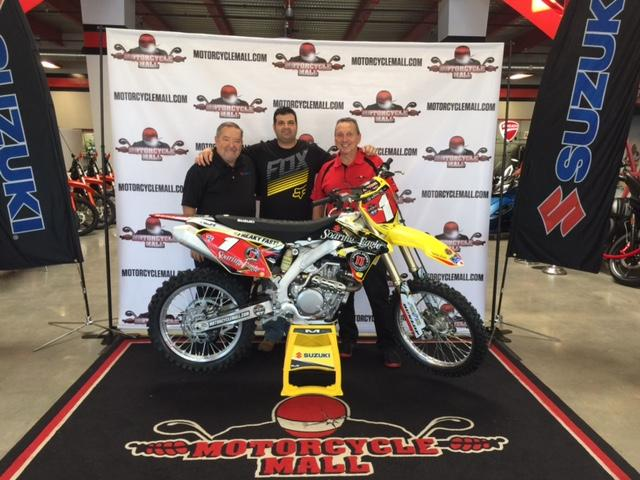 "Congratulations to 2016 ""Win a 450"" winner Frank Artusa of East Rockaway, New York.Photo: Courtesy of Suzuki Motor of America"