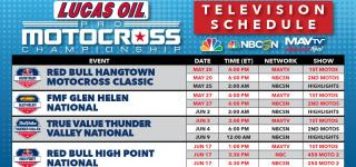 2017 Lucas Oil Pro Motocross Championship Broadcast Schedule Unveiled