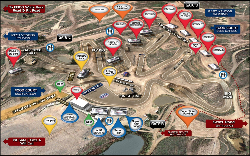 Hangtown Motocross Track Map