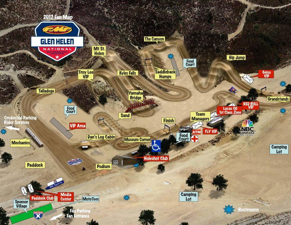Glen Helen Raceway Track Map