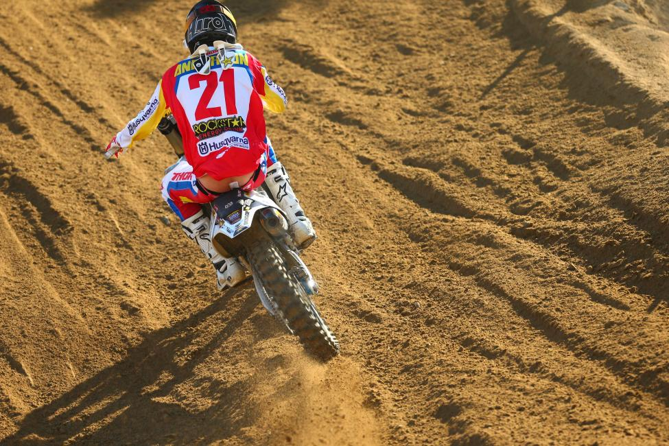 Anderson finished second overall following his first career moto win.Photo: MX Sports Pro Racing / Jeff Kardas