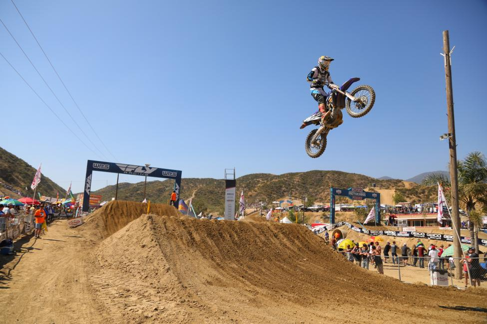 Ferrandis earned his firstr career moto win en route to his first overall podium result.Photo: MX Sports Pro Racing / Jeff Kardas
