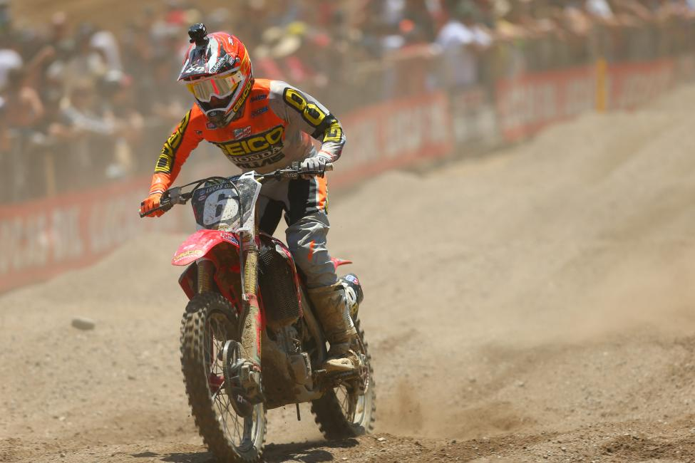 Martin rebounded from adversity in Moto 2 to narrowly miss the overall win.Photo: MX Sports Pro Racing / Jeff Kardas