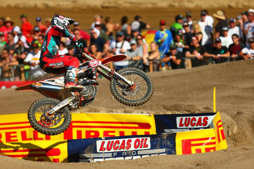 Baggett finished third overall at his home race.Photo: MX Sports Pro Racing / Jeff Kardas