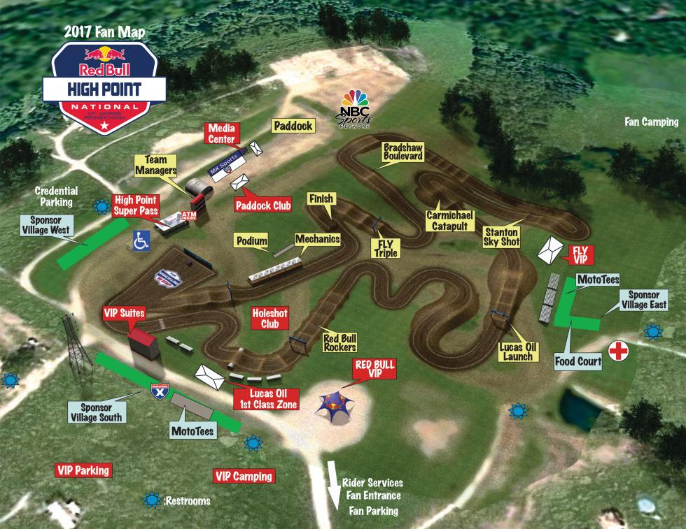 High Point Raceway  Track Map