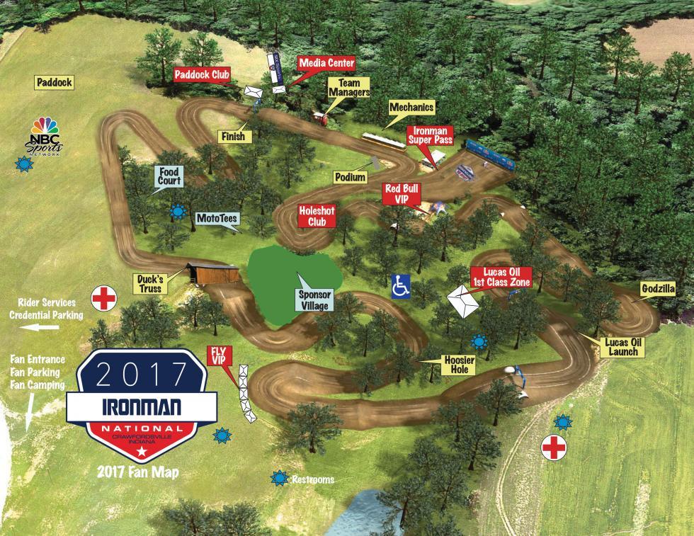 Ironman Raceway Track Map