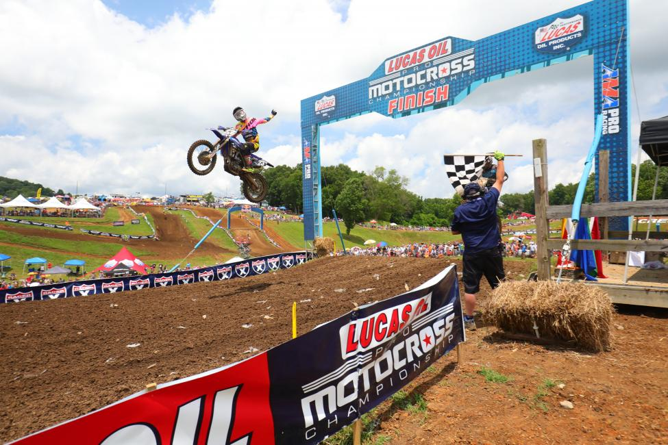 Plessinger emerged with his second career win.Photo: MX Sports Pro Racing / Jeff Kardas