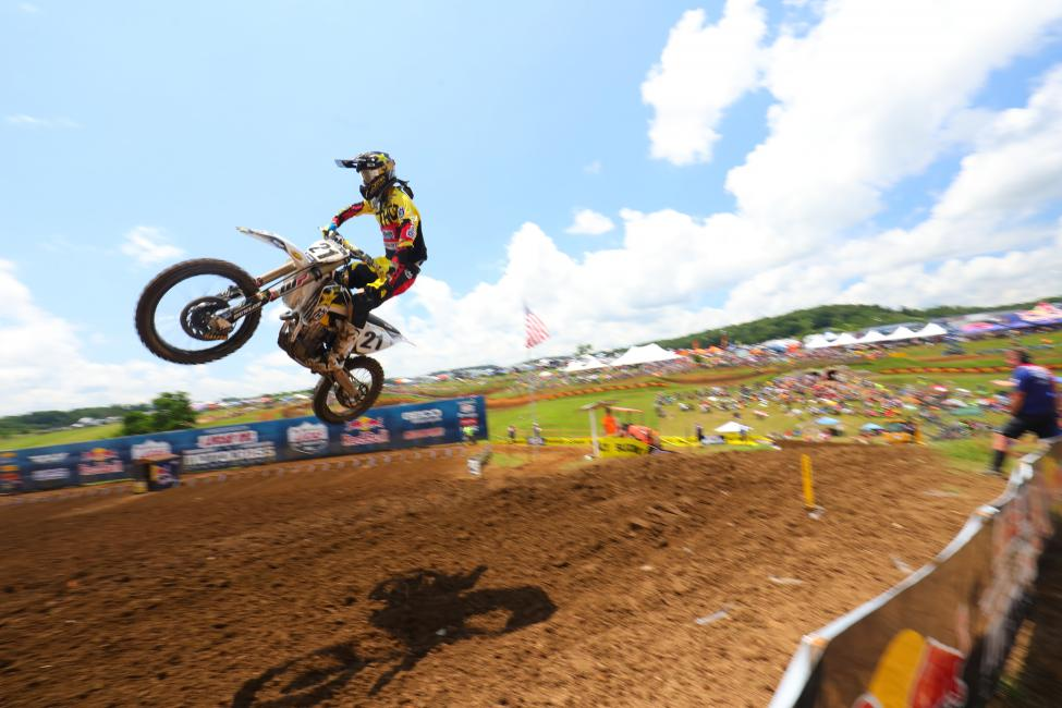 Anderson just missed out on his first career 450 Class win.Photo: MX Sports Pro Racing / Jeff Kardas