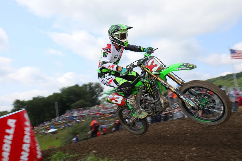 It was an eventful day for Tomac who holds a 27-point championship advantage.