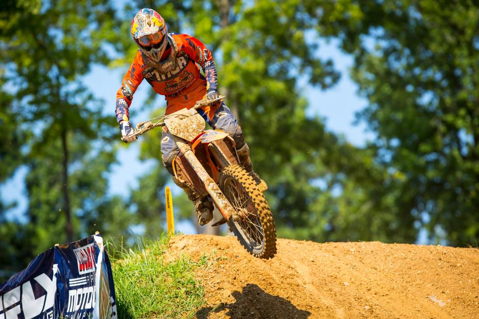 Musquin saw his three-race winning streak come to an end with a runner-up finish.