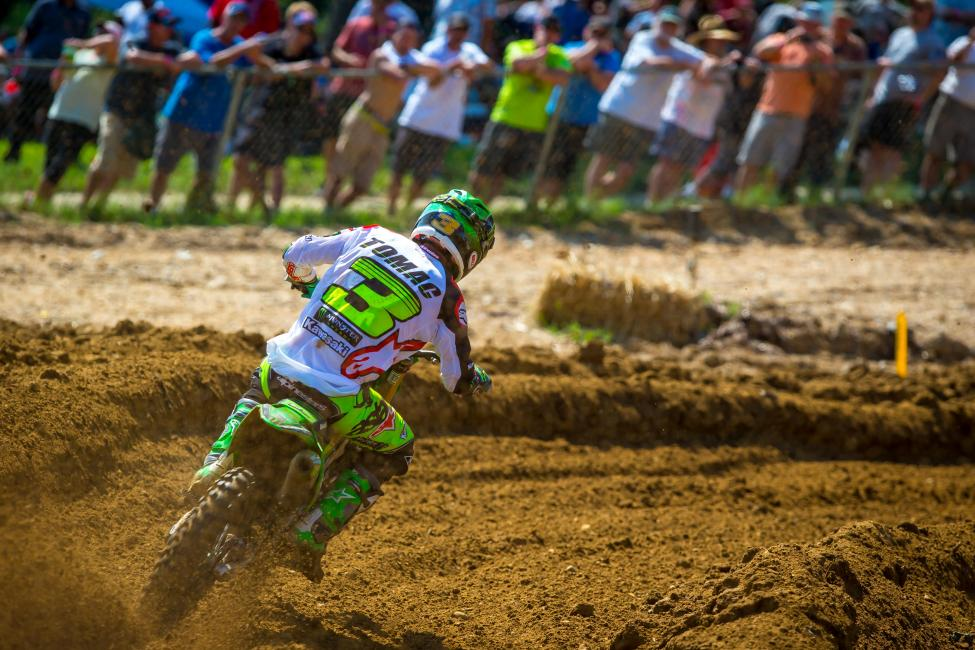 Tomac's third-place finish puts him in reach of his first 450 Class title next weekend.