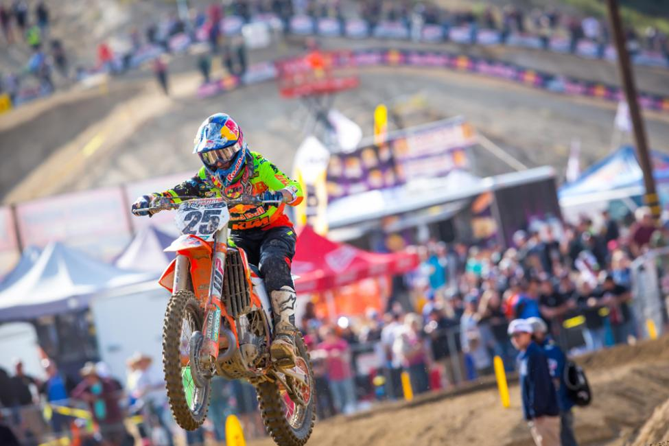 Marvin Musquin has now finished on the podium for seven straight races dating back to last season.