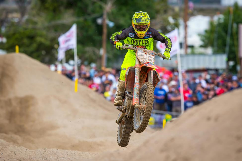Alex Martin finished in the runner-up spot after consistent 3-3 moto scores.