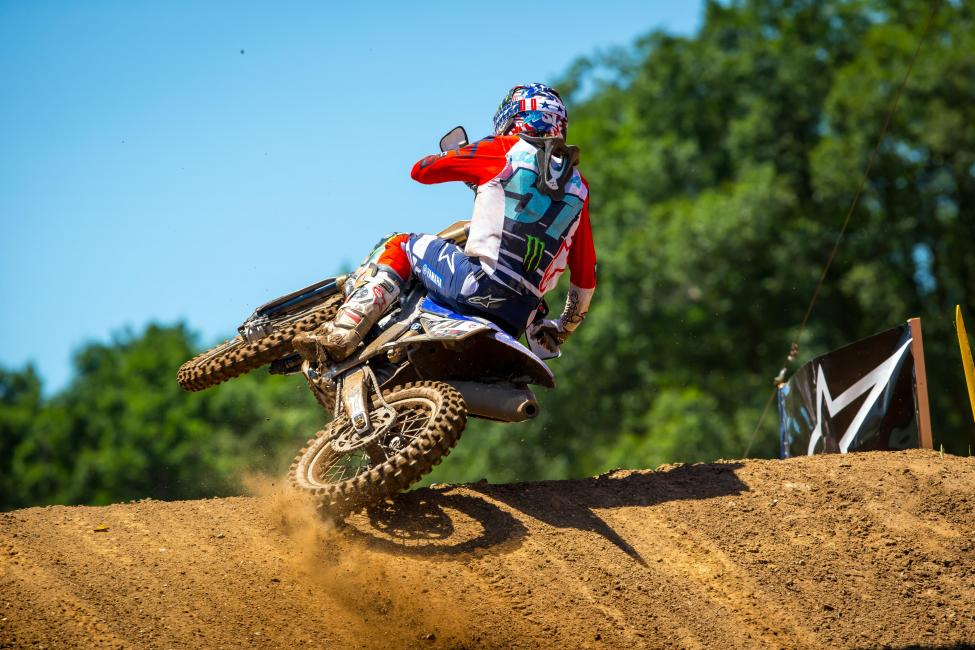 Justin Barcia's riding was impressive all day as he netted 4-2 moto scores for third overall.