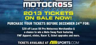 2013 Lucas Oil Pro Motocross Tickets On Sale