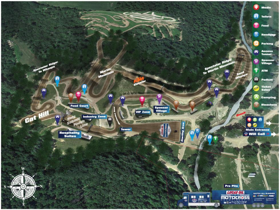 Spring Creek MX Park Track Map