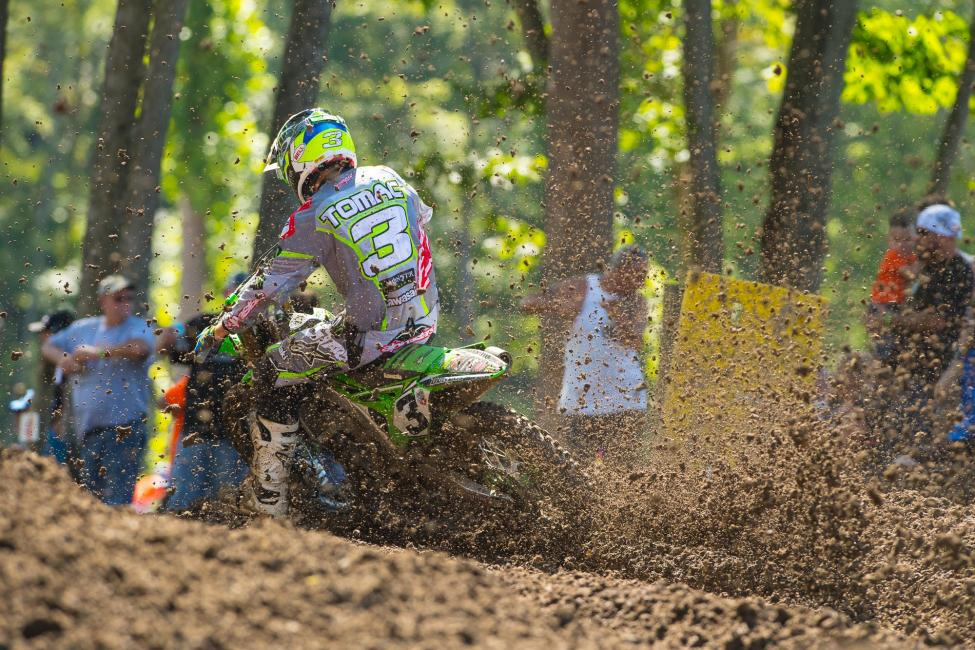 Tomac had a pair of resilient rides to finish third overall.Photo: Simon Cudby