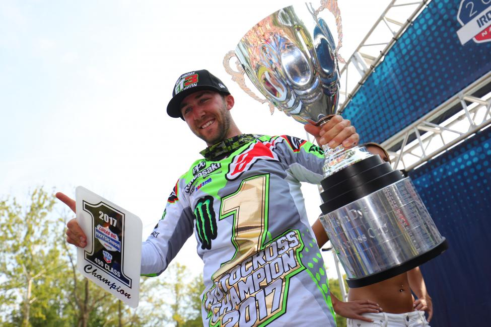 Tomac became the 24th different 450 Class Champion in Lucas Oil Pro Motocross Championship history.