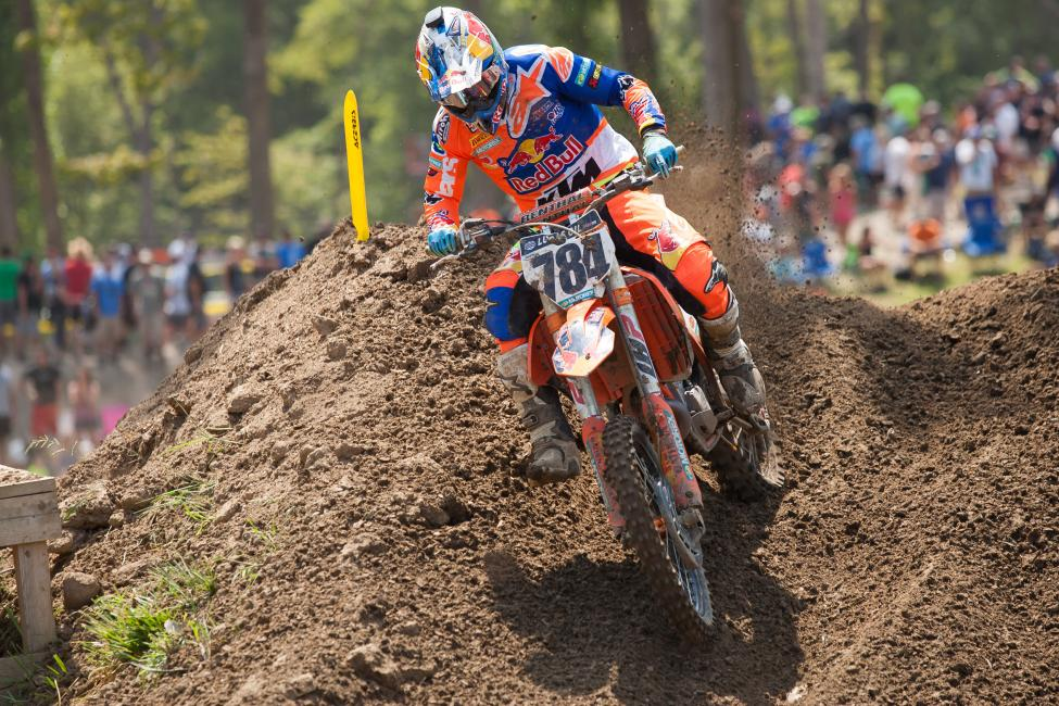 Herlings made a statement in his Pro Motocross debut, sweeping the 450 Class motos.