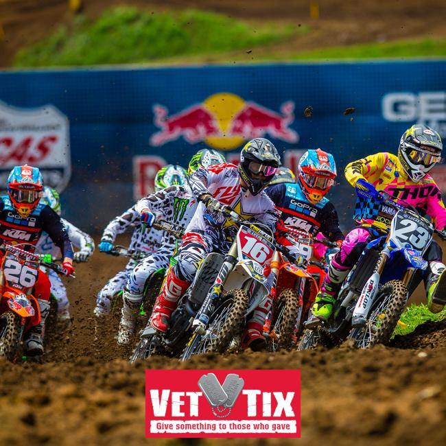 A Total of 700 Tickets to 2018 Lucas Oil Pro Motocross Season Available Via Veteran Tickets Foundation.