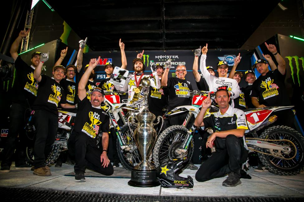 Jason Anderson and Zach Osborne take home the number one plates for Rockstar Energy Husqvarna Factory Racing.