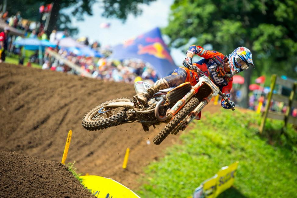 Musquin's second moto win carried him to third overall.
