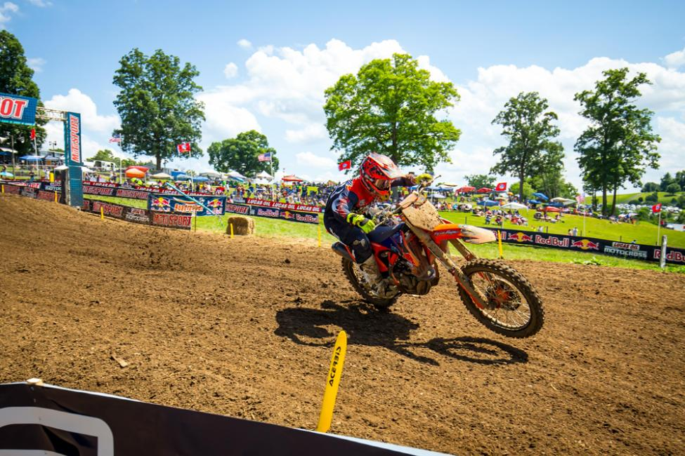 McElrath broke through for the first win of his career in the 250 Class.