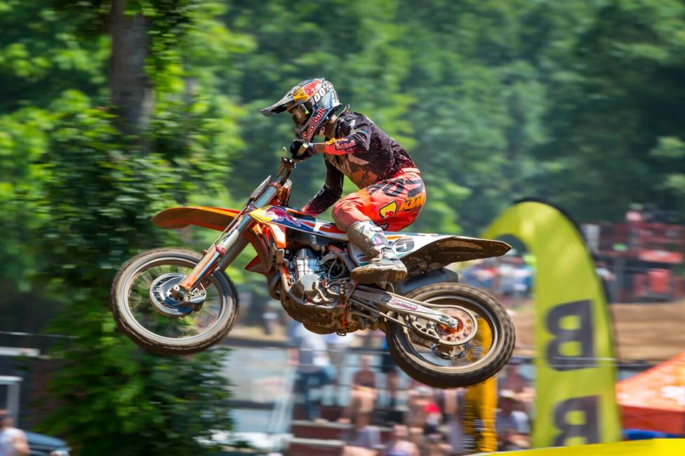 Marvin Musquin claimed victory (2-1) and stopped Eli Tomac's five race win streak.