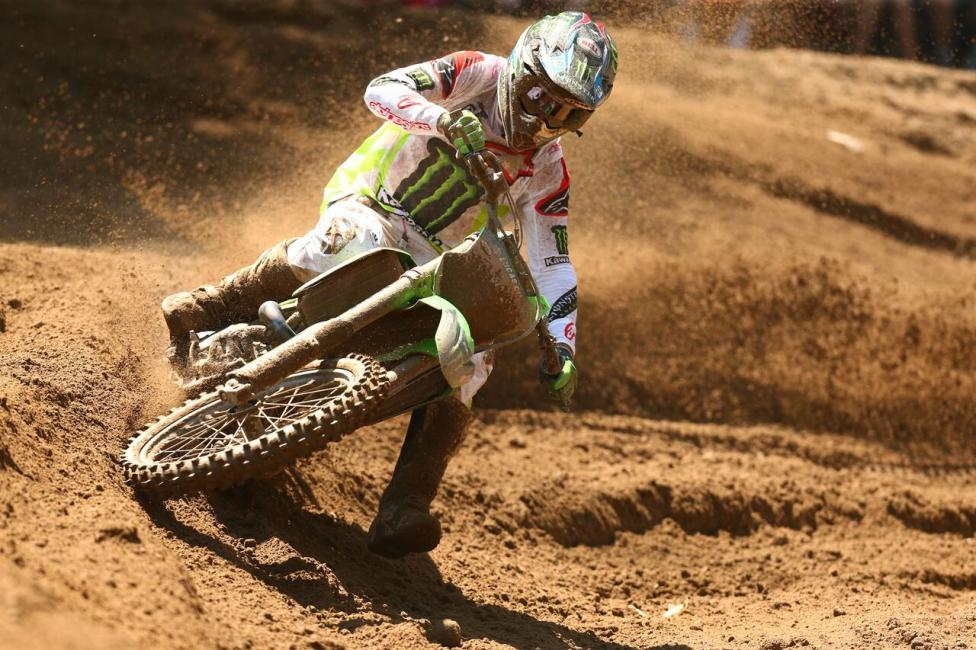 Eli Tomac was forced to settle for second overall (1-2) after crashing out of the lead in Moto 2.