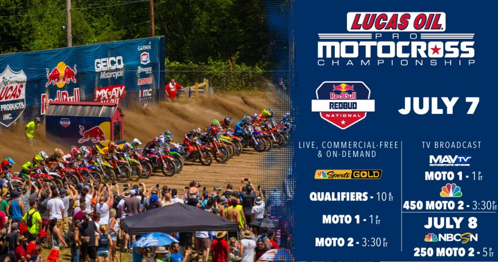NOTE: There will be a 30-minute gap in between the conclusion of first motos and the start of second motos this weekend.