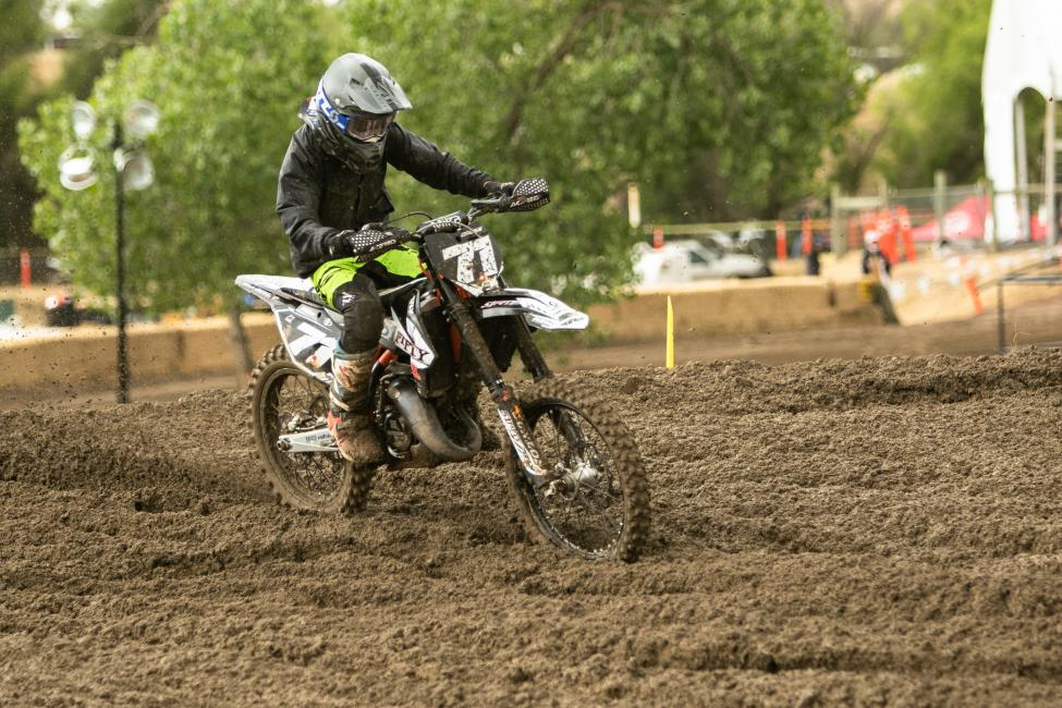 Hunter Cross won the FMF 2-Stroke Challenge class with a pair of runner-up finishes.
