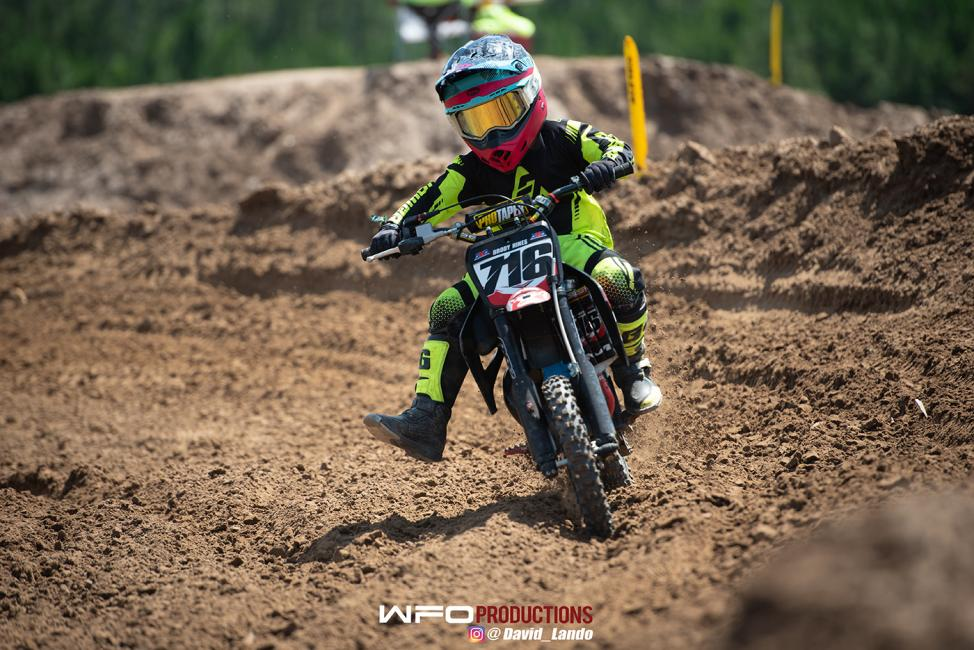 Brody Hines went 3-2 to finish second overall on his Cobra in the 51cc (7-8) Limited class.