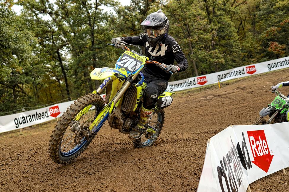 Kyle Sand rode his Yamaha to fourth place in the Open C division. Photo by Matt Wellumson