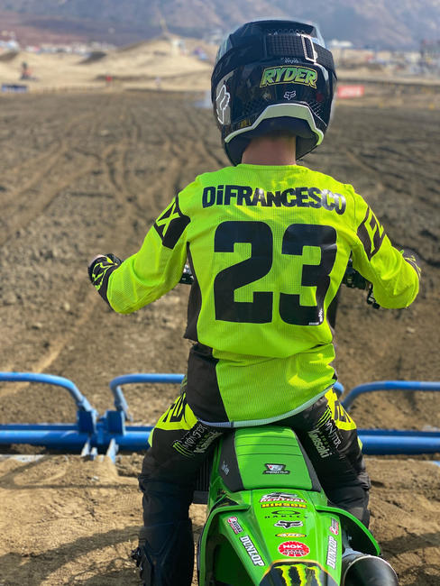 Ryder DiFrancesco was second in the 250B class behind Jett Reynolds. Photo courtesy 2X Productions